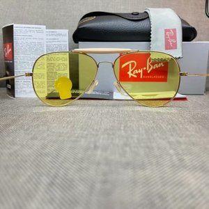 Ray Ban yellow RB3033-58mm